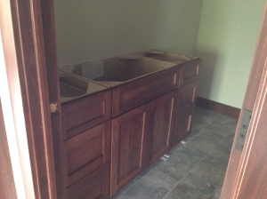 Hall cabinets installed