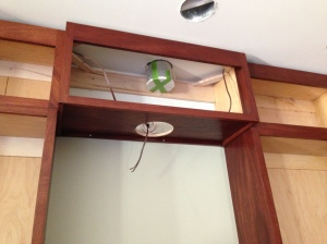Close-up of exhaust fan cabinet