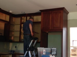 First cabinet doors installed