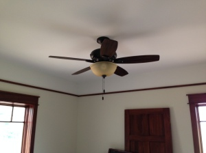 Fan installed in one of the bedrooms