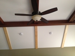 Fan installed in Family Room