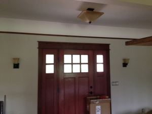 Entry way ceiling light and sconces