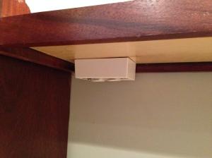 Under cabinet outlets installed