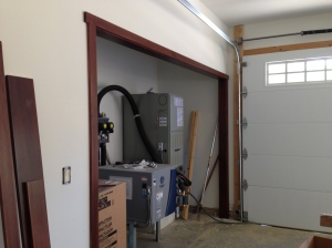 Trimmed out the utility area in the garage