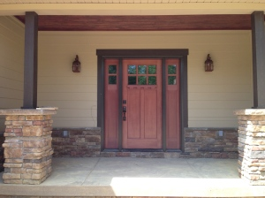Front door trim painted