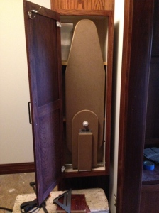 Ironing Board cabinet with door open