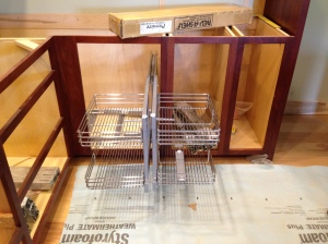 Blind corner cabinet shelving