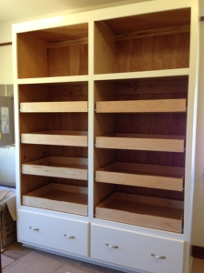Drawers installed in my LARGE pantry cabinet
