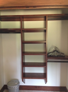 One of the spare bedroom closets