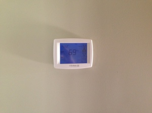 Digital thermostat installed