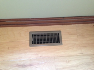 Floor register vents