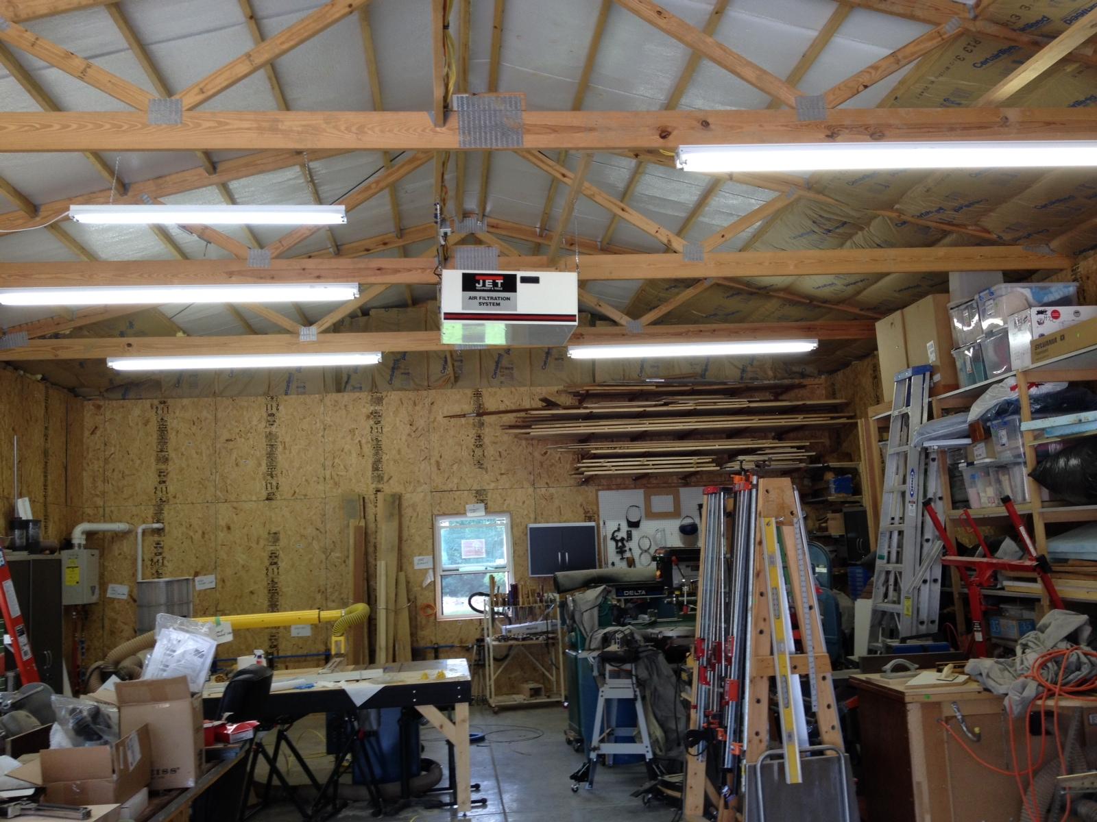 Pole barn interior lighting for Pole building interior ideas