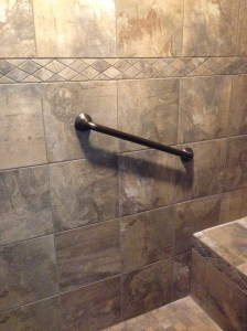 Shower grab bar